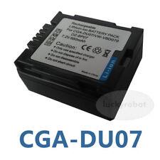New Battery for Panasonic CGA-DU07 DU06 NV-GS17 SDR-H250 SDR-H20 Camcorder