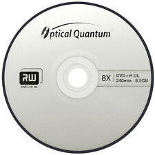 25-Pack Optical Quantum Logo Top DVD+R DL Dual Double Layer Disc 8.5GB Cake Box