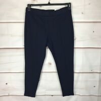 Style & Co Petite Seamed Ponte Pull On Mid Rise Womens PXL Blue Legging Pants