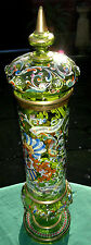 Huge 58cm Antique Bohemian Moser Glass c1900 Hand Enameled Pokal-Alliance-Toasts