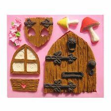 3D puerta de casa de Hadas Elfo Molde de Silicona Fondant Pastel Decoración Molde del chocolate
