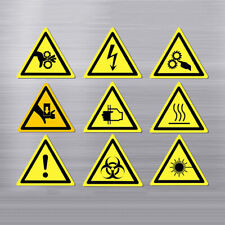 Warning Sticker Sign Security Work Safety Labels Water-Proof Wall Machine Supply