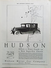 1924 Hudson Motor Car Co Coach Super Six Chassis RFH Art Original Ad