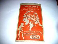 """Rod Stewart"" ConcertSticker June 5,7,8,9 1979 MSG/Mint"