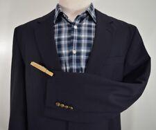 JOS A BANK mens navy blue 2 BRONZE BUTTON sport coat blazer jacket 44L 44 Long