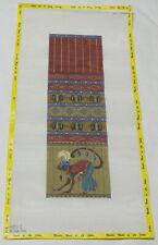 "Melissa Shirley ""Circus Monkey"" Purse Handpainted Needlepoint Canvas"