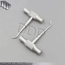 2 Pcs Cross Bar Dental Extracting Root Elevator Winter Blade 14l Amp 14r