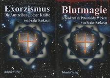 BLUTMAGIE - EXORZISMUS - RUNEN - TELEPATHIE - Frater Raskasar - 10 x BUCH SET