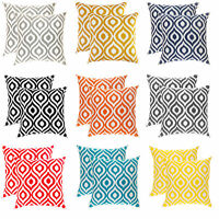 TreeWool, (2 Pack) Ikat Ogee Accent Decorative Cotton Cushion Covers Pillowcases