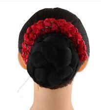 Hair Gajra/ Hair Garland/ Hair Flowers Red Artificial
