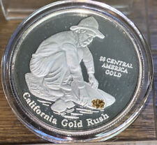 S.S. Central America Silver Proof Coin With Gold Nuggets #0453 JM