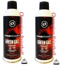 2 x Firepower Green Gas Can for Airsoft Guns Pistols Rifles Sniper Silicone 8oz