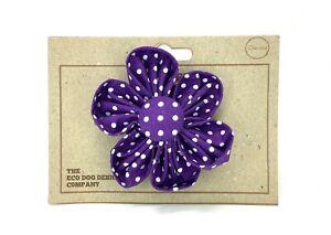 Purple Polka Dot Detachable Flower, Dog Collar Accessory, Collar Flower