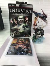 Injustice Gods Among Us Collectors Edition PS3 Statue Book No Game Wonderwomen