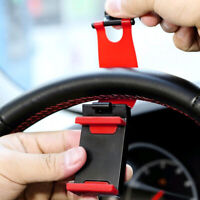 Car Steering Wheel Clip Cell Phone Holder Auto Truck Bike Handlebar Accessories
