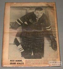 1962 Gump Worsley Rangers La Patrie Printed Photo