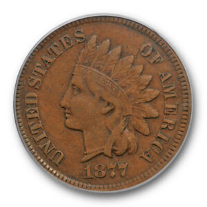 1877 1C Indian Head Cent PCGS XF 40 Extra Fine Full Liberty Key Date Original...