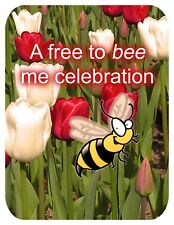 Free To Be Me Party Invitation for Women Celebrating Being Single