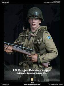 Facepool 1/6 Scale WWII US Private Sniper 2nd Ranger Battalion France FP-003A