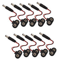 5PCS T type 9V DC Battery Power Cable Barrel Jack Connector for Arduino New s!