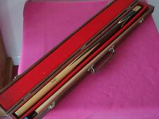 Beautiful 1980s Riley / Steve Davis Snooker Cue in Hard Case