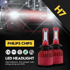 Pair LED Headlight Pair H7 Car 300W 30000LM Kit Conversion Bulb Headlamp 6500K