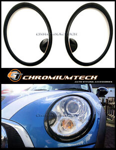 MK2 BMW MINI Cooper/S/ONE R55 R56 R57 R58 R59 Gloss BLACK Headlight Surround