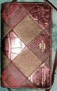 Auth💥LNC💥Coach Hayden Crsbdy/Clutch with Metallic & Reptile Embossed Patchwork
