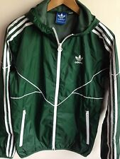 Adidas Originals para hombre S 38-40 Pista Con Capucha Sudadera Con Capucha Chaqueta Abrigo Anorak