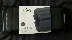 Bala Bangles Weights You Wear Set of 2 Charcoal NEW Factory Sealed 1lb each 2lbs