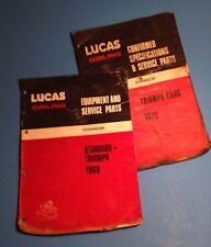 1969 1970 Lucas Girling - Triumph - Equipment & Service Parts Catalog - Original
