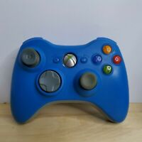 OEM Microsoft XBOX 360 Rare Blue Wireless Controller ##TESTED, WORKS READ##