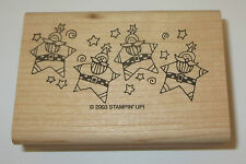 Santa Claus Star Border Rubber Stamp New Stampin' Up! Jolly Old Elf Rare Retired