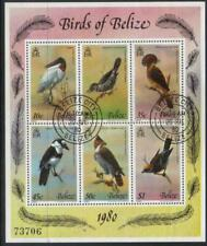 BELIZE 1980 BIRDS FINE USED M/S