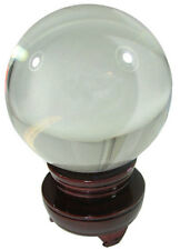 """Nice Glass Gazing Ball. It's 4-1/4"""" dia on a Stand Great for Halloween"""
