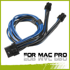 18AWG Dual Mini 6 Pin Male To 8 Pin PCI-e Power Cable For Mac Pro Video Card