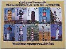 Stadspost Beverwijk 2008 - Velletje Vuurtorens, Lighthouses van Nederland