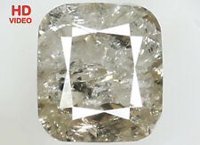 Natural Loose Diamond Yellow Grey Color Cushion I2 Clarity 4.90 MM 0.83 Ct N7398