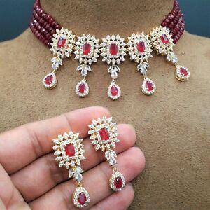 New Bollywood Indian Bridal Wedding Jewelry Partywear Kundan Choker Necklace Set