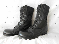 Jungle Boots Military Style Black Leather Nylon Upper Panama Sole Size 5R