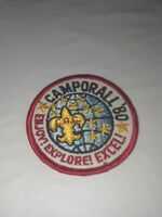 BSA Patch: Camporall '80 Enjoy! Explore! Excel!