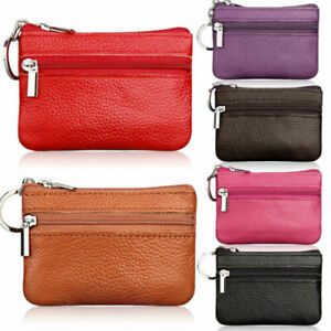 Ladies Leather Small Mini Wallet Cards Key Holder Zip Coin Purse Clutch Bag UK