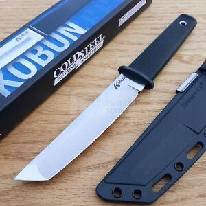 "Cold Steel Kobun Fixed Knife 5.5"" AUS8A Steel Tanto Blade Black Kray-Ex Handle"