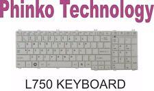 NEW Keyboard for Toshiba Satellite L755 L755D L750 L750D White