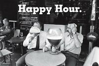 Happy Hour Poster - Beer Bier XXL Glas - Fun Plakat lustig Querfomat 91,5x61 cm