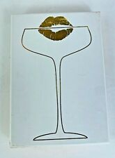Rosanna One Tray Wine Kiss Lips Anything Goes White Gold Porcelain Dish