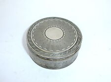 Unusual Fine Decorative Silver Tin France 19th Century