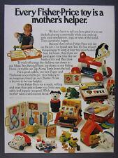 1978 Fisher-Price Toys tool kit telephone cash register clock vintage print Ad