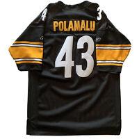 Authentic Pittsburgh Steelers NFL Troy Polamalu OnField Reebok Jersey Size 50