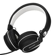 RockPapa Adjustable Foldable Headphones Headsets iPhone iPod MP3 PC Black White